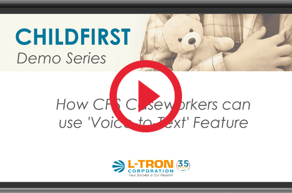 how to use voice to text feature of childfirst mobile solution